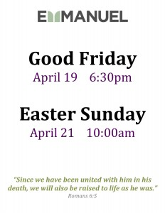 Good Friday & Easter 2019