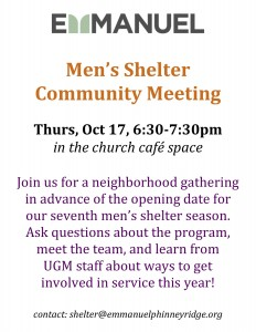 Men's Shelter Community Meeting